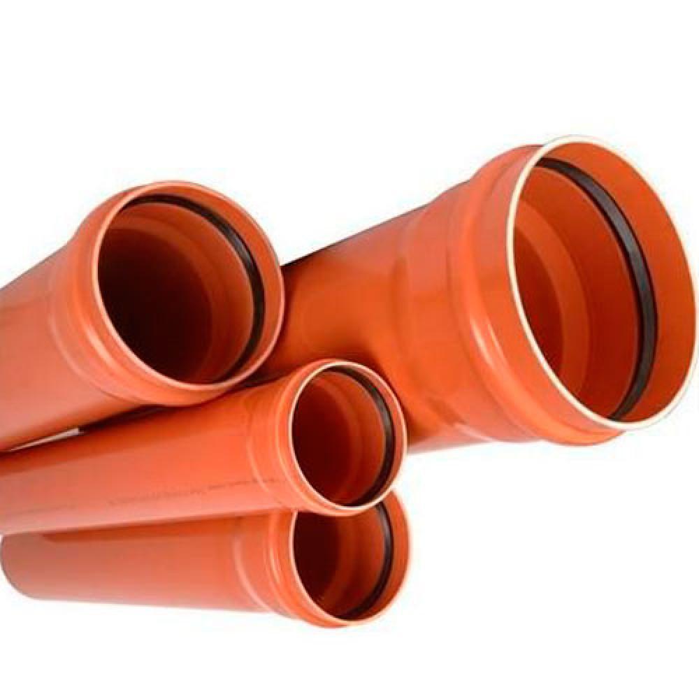 RU-ХК ПВХ Труба канализационная наружн. ML (рыжая)