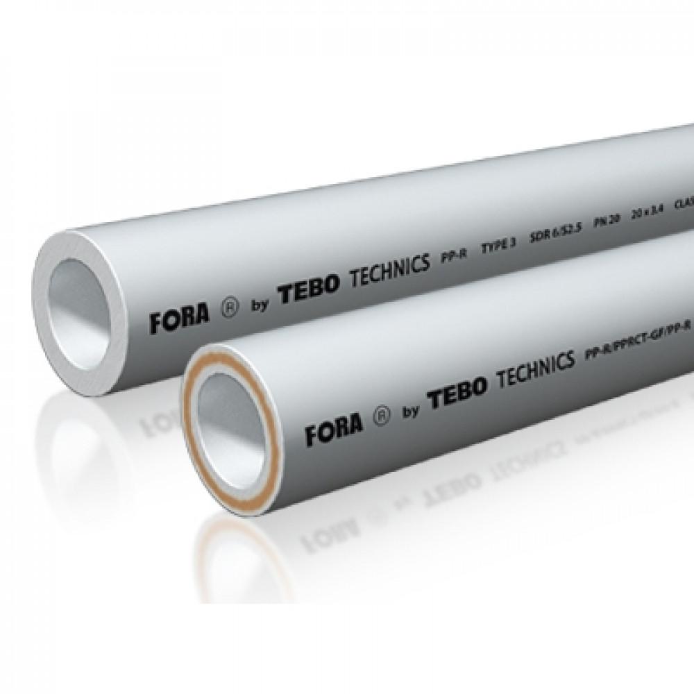RU-FR Труба SDR7,4 (стекло.) FORA (белый цвет)