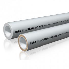 Трубы SDR6 (армированные по центру) FORA (белый цвет)